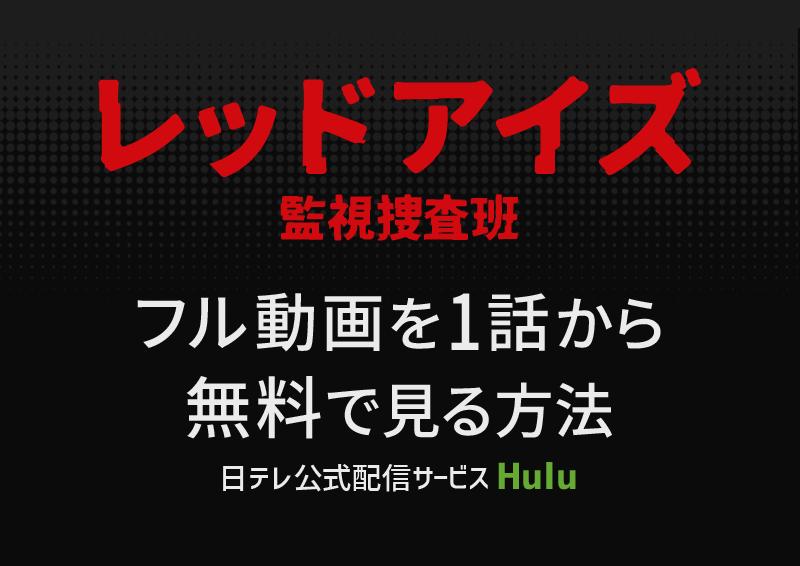 レッドアイズ監視捜査班【亀梨和也主演ドラマ】フル動画を無料で見る方法